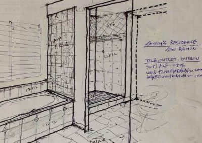 Bathroom Remodeling Design Sketch