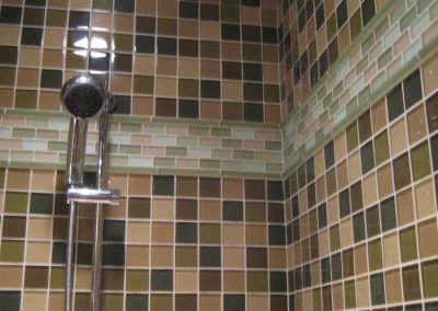Glass Mosaic Shower in Pleasanton