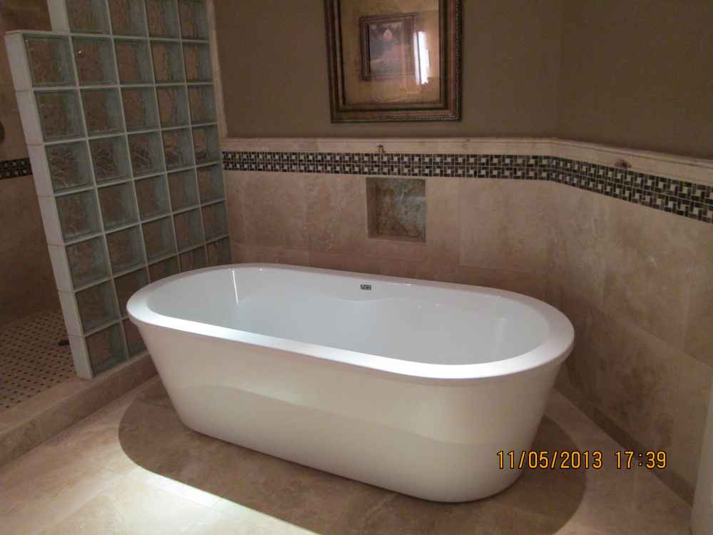 Bathroom Tile Accent Liners Shower Glass Doors Mosaics
